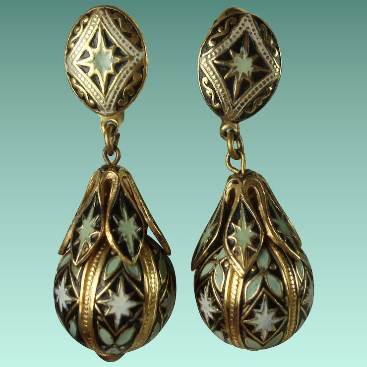Vintage Spanish Toledo Ware Earrings