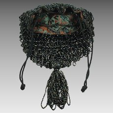 Vintage 1920s Carnival Glass Beaded Purse
