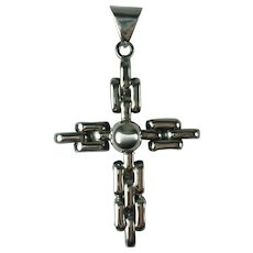 Vintage Sterling Silver Cross Mexico