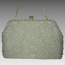 Vintage 1960s Beaded & Sequin Purse Wedding