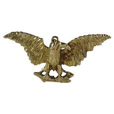 Vintage 14 Karat Gold Eagle Pendant