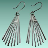 Vintage Mexican Sterling Silver Dangly Earrings