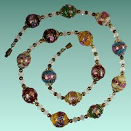 Vintage Venetian Wedding Cake Bead Necklace