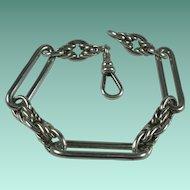 Antique Sterling Silver Watch Chain Bracelet