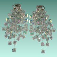 Vintage Rainbow Crystal Chandelier Showstopper Earrings
