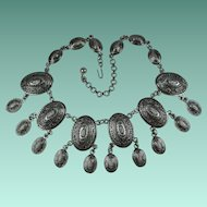 Vintage 1970s Spanish Design Collar Necklace