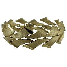 Vintage Crown Trifari 1960s Gold-Tone Link Bracelet