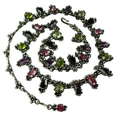 Vintage 1954 Hollycraft Rhinestone Necklace