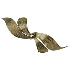 Vintage Grosse Germany Gold-plated Large Bow Brooch