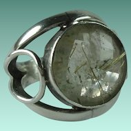 Vintage Sterling Silver Rutilated Quartz Ring