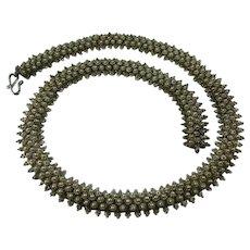 Vintage Etruscan Revival Silver Cannetille Choker Necklace