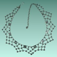 Vintage Crystal Rhinestone Festoon Necklace
