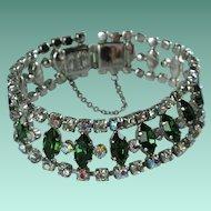 Vintage Crystal Rhinestone Bracelet Donald Simpson Signed Gay Charm
