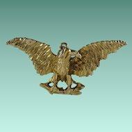 Vintage 14k Yellow Gold Eagle Pendant