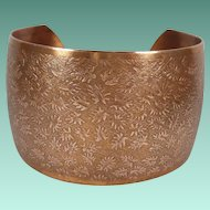 Vintage Wide Copper Cuff Bracelet