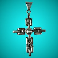 Vintage Sterling Silver Chunky Cross