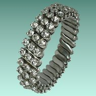 Vintage Rhinestone Expansion Bracelet Japan