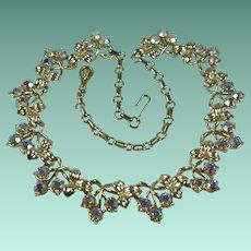 Vintage 1960s Coro Aurora Borealis Rhinestone Necklace