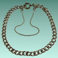 Vintage 9 Carat Rose Gold Curb Chain Bracelet
