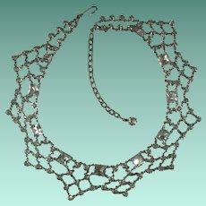 Vintage Crystal Rhinestone Bridal Festoon Necklace