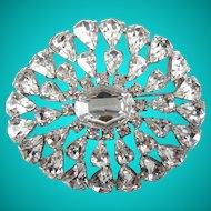 Vintage Large Crystal Rhinestone Statement Brooch