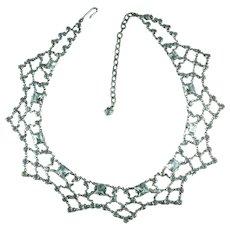 Vintage Crystal Rhinestone Festoon Necklace