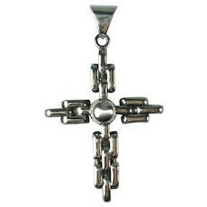 Vintage Sterling Silver Chunky Cross Mexico