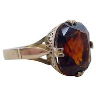 Lovely Art Deco 7 Carat Spessartite Garnet Ring