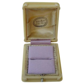 Antique French Ivorine Celluloid Ring Presentation Box