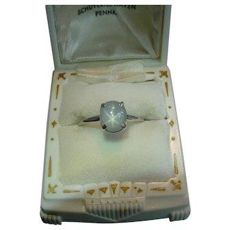 Jabel 900 Platinum Star Sapphire Ring Elegant Simple