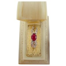 Vintage 1950's Ruby and Diamond Ring