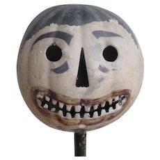Antique Folk Art Metal Halloween Parade Lantern