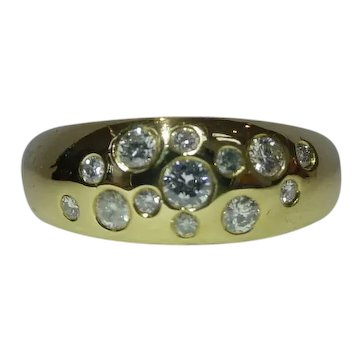 Diamond Bubbles Ring in 18k Yellow Gold