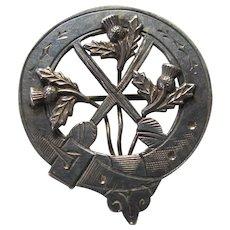 Victorian Silver Scottish Buckle Shawl Pin