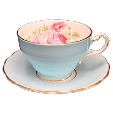 Foley Bone China Floral Teacup Saucer England