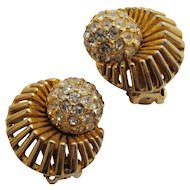 Hattie Carnegie Pave Rhinestone Earrings