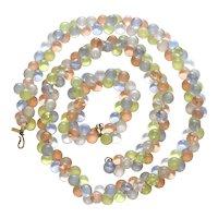 Monet Wisteria Pastel Lucite Bubbles Necklace Bracelet Set