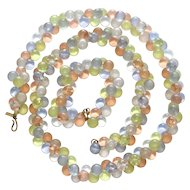Monet Wisteria Pastel Lucite Bubbles Necklace Bracelet Set