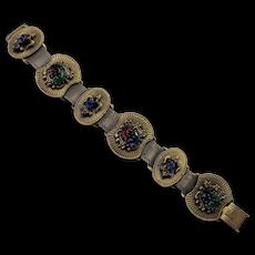 Victorian Revival Jewelled Slide Mesh Bracelet