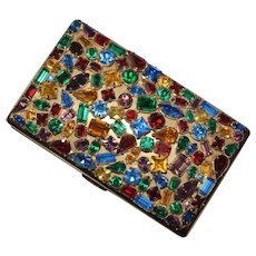 Elgin America Jewelled Carryall Minaudiere Compact Purse