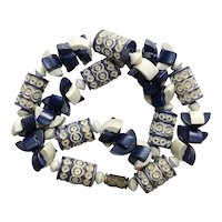 Galaith Deeply Carved Early Blue Necklace