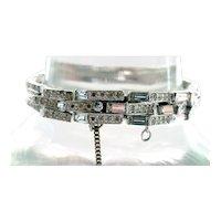 Joseph Mazer Deco Pyramid Rhinestone Bracelet Bridal