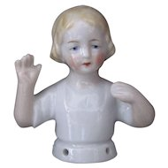 German Deco Half Doll Hands Away Book Piece