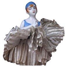 Pierrette Half Doll on Base Schneider Book Piece