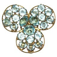 Fred A. Block Aquamarine Circle Sterling Pin