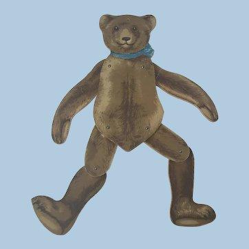 Antique German Teddy bear Pantin Doll