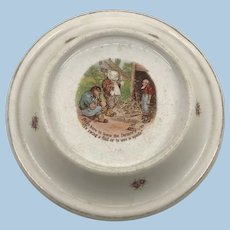 Antique Roosevelt Bear Baby Plate 1905