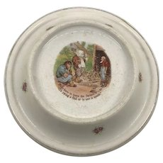 Antique Roosevelt Bear Baby Plate 1905
