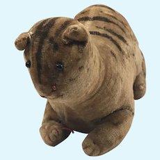 Antique velvet cat toy Steiff like