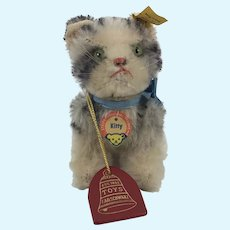 Steiff Kitty Cat 10 cm 1960s all ID and FAO Schwarz Tag